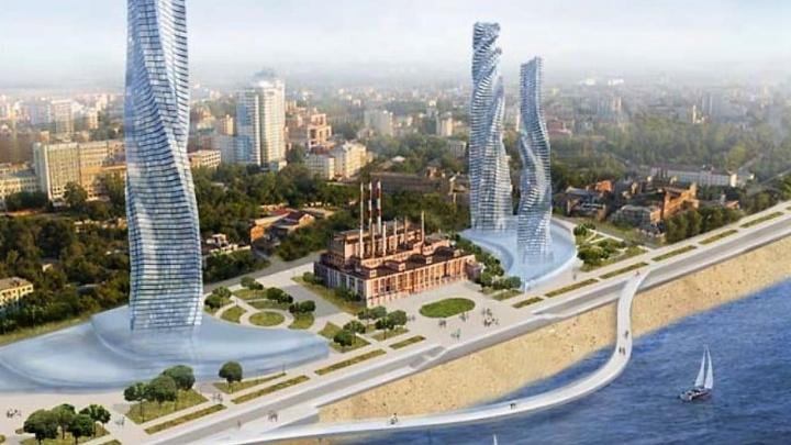 С небоскребами и загогулиной: опубликован еще один вариант соединения набережных в Самаре