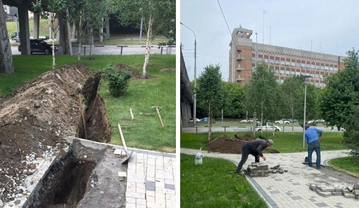 Возле «Флотилии» начали рубить деревья ради дороги, которая возмутила жителей ЖК — работы длились недолго