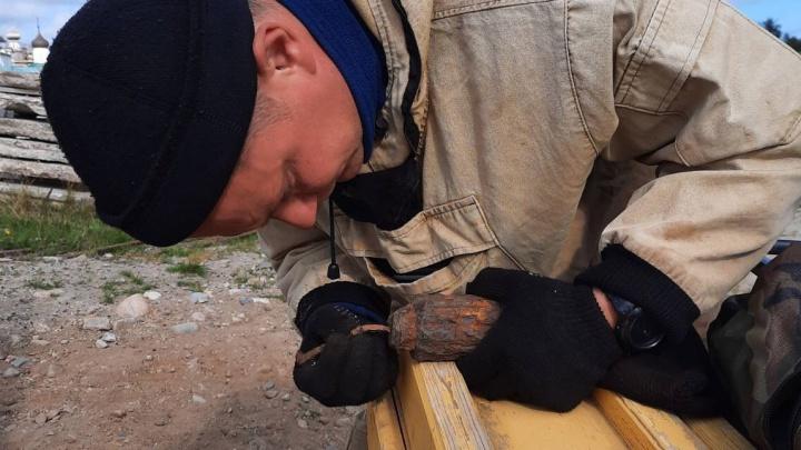 На Соловках нашли мину с тротилом внутри