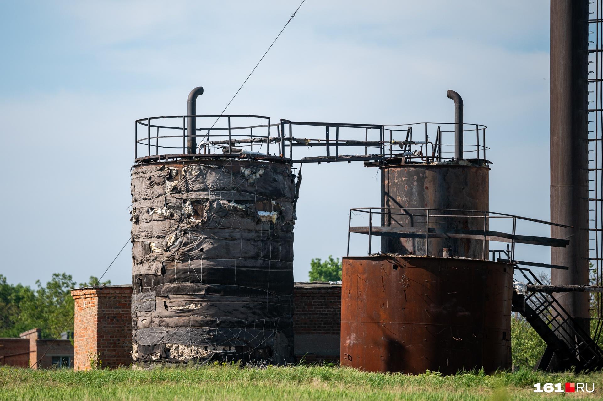 Ветхими выглядят и надземные постройки на очистных в Дмитриадовке