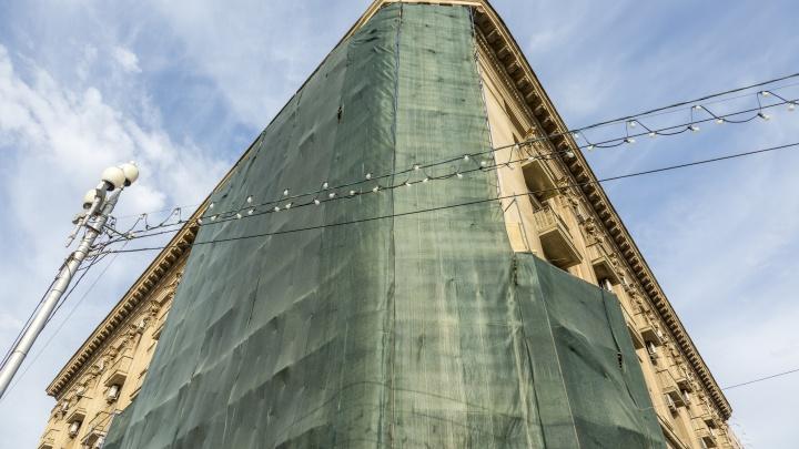Фасад «Интуриста» отремонтирует фирма, причастная к появлению в Волгограде «золотого» памятника Ленину