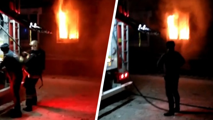 «Ужас-ужас!»: в Ярославле людей эвакуировали из горящего дома сразу после боя курантов