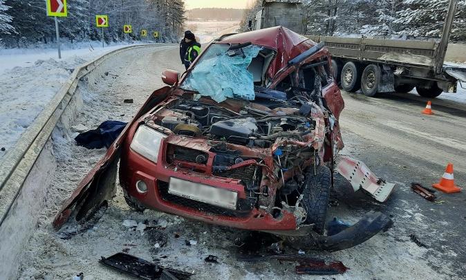 В аварии на трассе Прикамья погиб 62-летний водитель