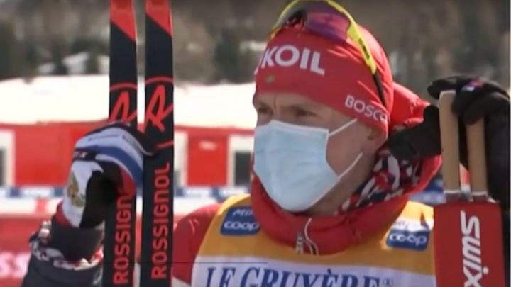 Александр Большунов взял золото в масс-старте на Кубке мира по лыжным гонкам в Швейцарии