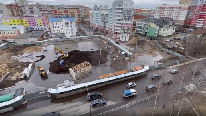 Авария, из-за которой половина Архангельска осталась без воды, попала на видео