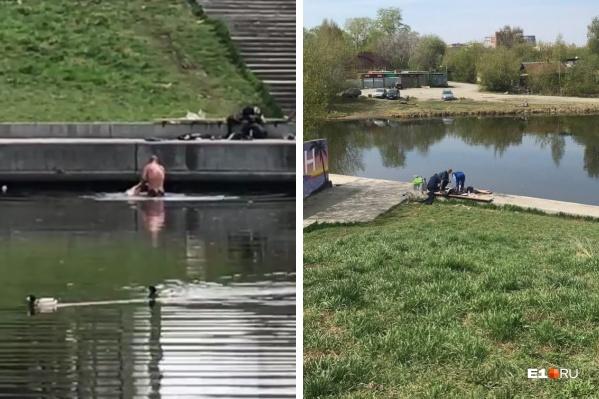 Несмотря на то что воды в этом месте по пояс, мужчина чуть не погиб