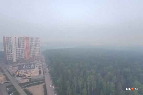 Город накрыло едким смогом. Синоптики уже рассказывали, откуда он взялся