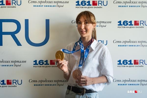 Лариса Коробейникова выиграла полный комплект олимпийских наград: серебро в Лондоне, золото и бронзу — в Токио