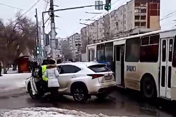 В аварии больше всего пострадал Lexus