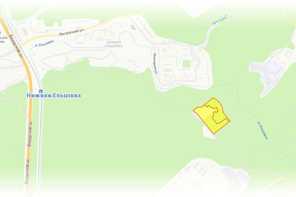 Два участка расположены между Нижней Ельцовкой и микрорайоном «Щ» и окружены лесом и по документам, и фактически
