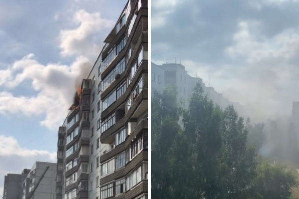 Огонь было видно с улицы