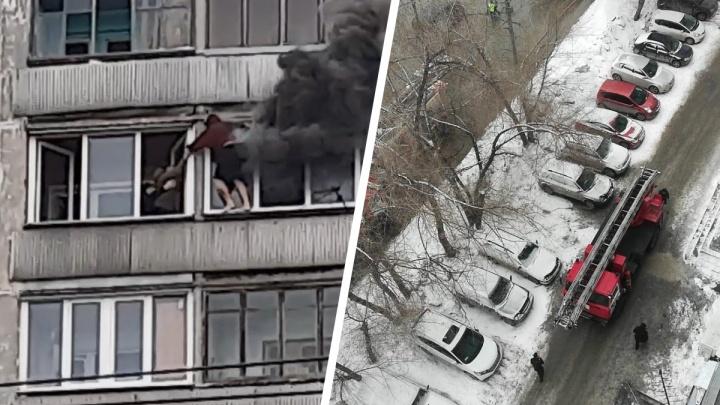 В Новосибирске подросток выбрался из горящей квартиры на 8 этаже по балконам — у него уже дымилась одежда