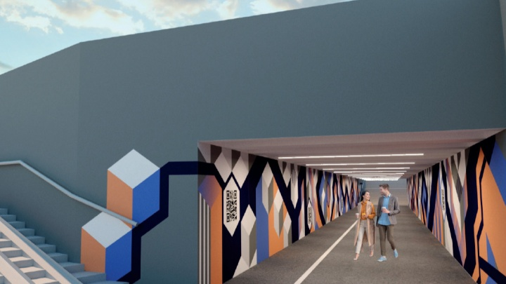 Опубликованы эскизы преображения подземного перехода к Институту искусств