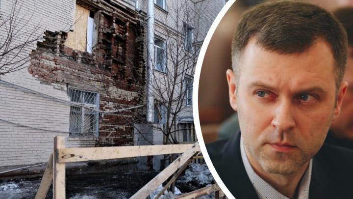 В челябинской мэрии объяснили, почему рухнула стена в трехэтажном доме на Худякова