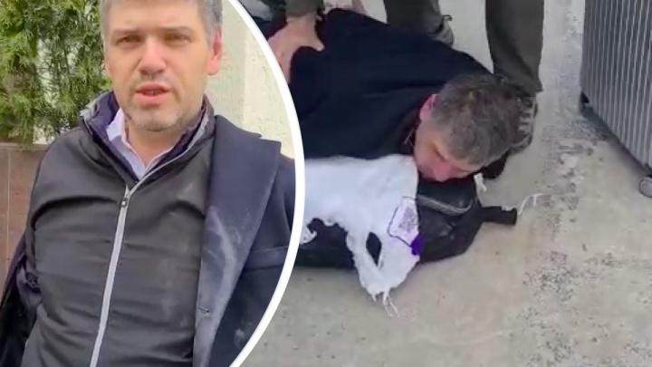 Опубликовано видео задержания сына Владимира Егорова Константина в аэропорту Геленджика