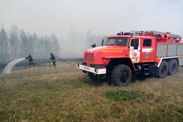 В Зауралье зафиксировано несколько ландшафтных и лесных пожаров