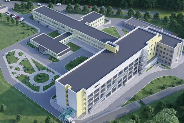 Здание рассчитано на 100 пациентов