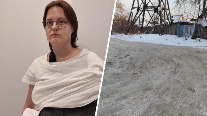 Екатеринбурженка вышла гулять с собакой и сломала руку на скользком тротуаре, про который забыли чиновники