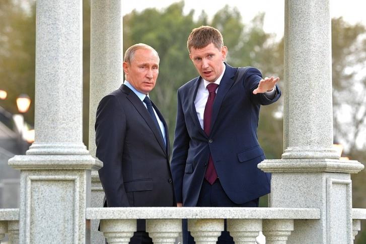 Президент Путин вместе с губернатором Решетниковым