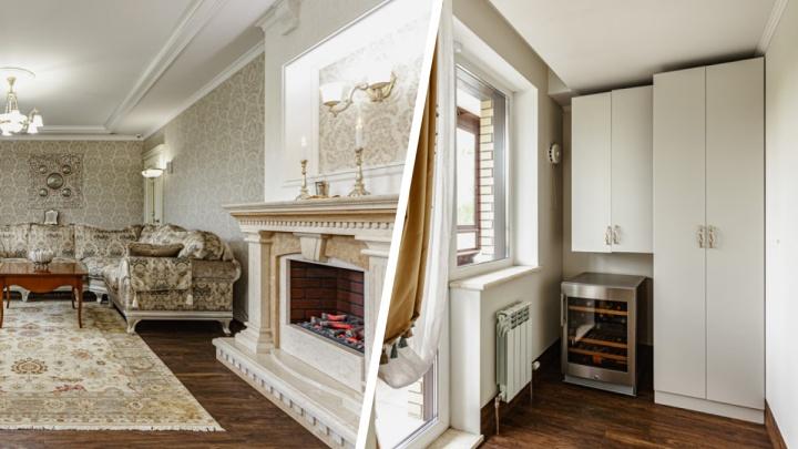 У Нарымского сквера продают роскошную квартиру с винной комнатой — разглядываем дворцовые интерьеры за 37 млн