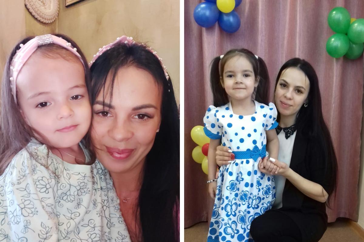Две дочери Даши очень разные — Эльмира (на фото слева) очень активная, а Диля (на фото справа) — спокойная и усидчивая