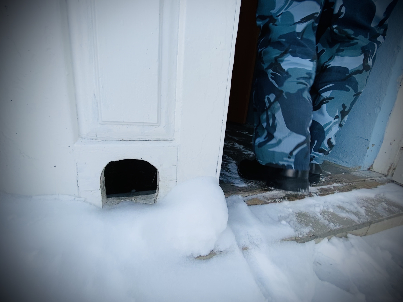 Многие заключенные держали кошек, специально для них сделаны ходы в дверях. Сейчас животных пристраивают волонтеры