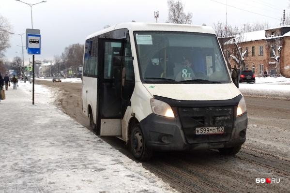 На маршруте 8т работают автобусы малого класса<br>