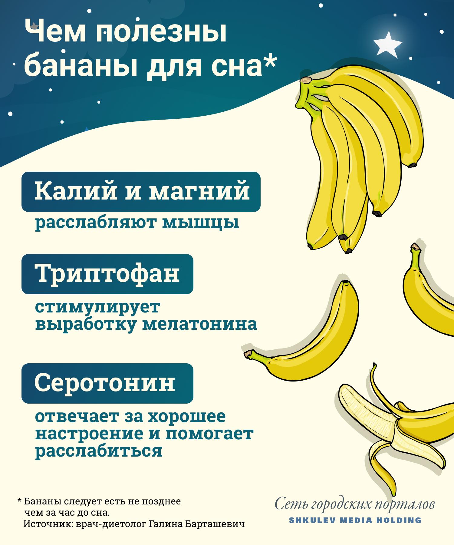 Вот почему бананы помогают нам засыпать