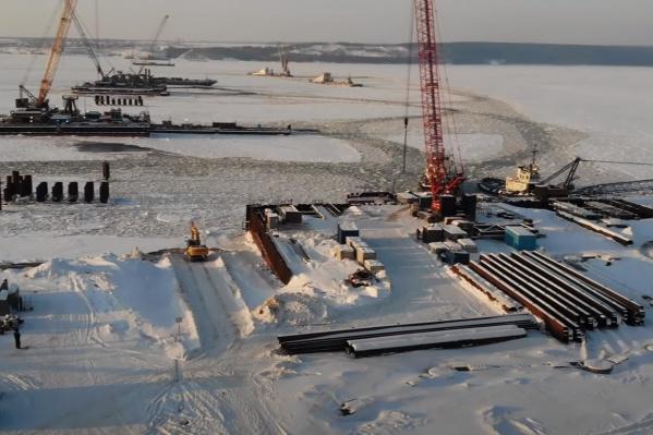 Мост через Волгу строят в Самарской области