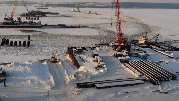 На стройплощадке моста у Климовки утонул водолаз