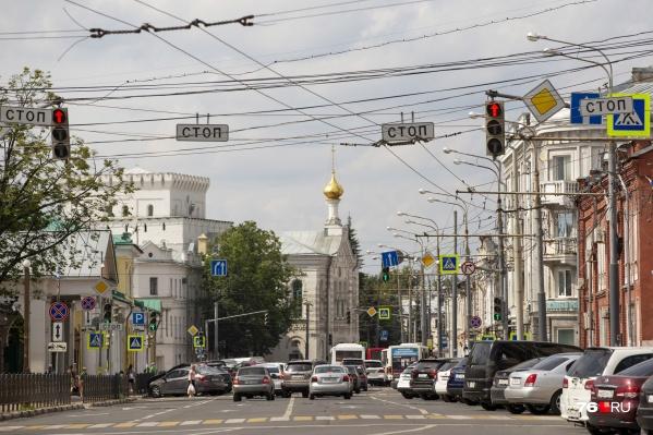 Красивая и загруженная улица