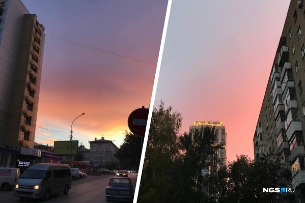 Жители города делятся фото красивого неба в соцсетях