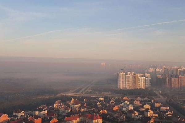 Кадр сделан из района УНЦ с видом на Академический