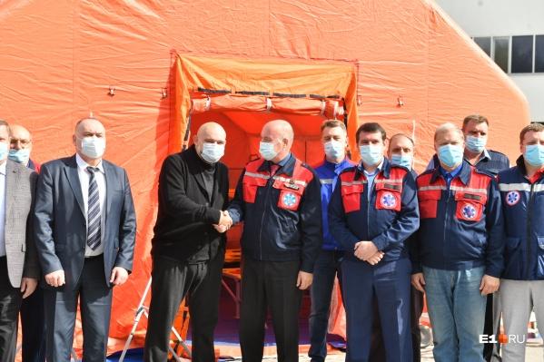 Во время визита в Екатеринбург Денис Проценко приехал в ТЦМК