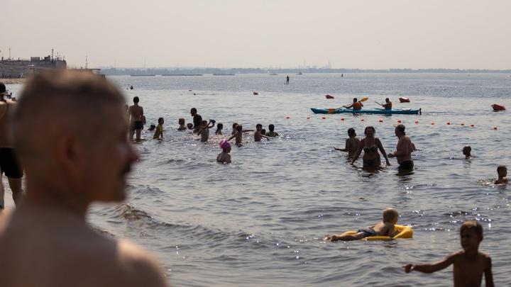 В Самарской области Волга прогрелась до рекордных значений