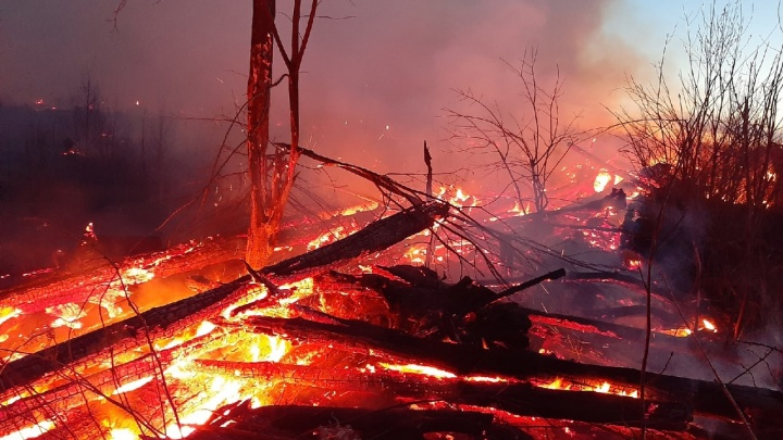 «Огонь перелетал через речку»: в Чайковском произошел крупный лесной пожар