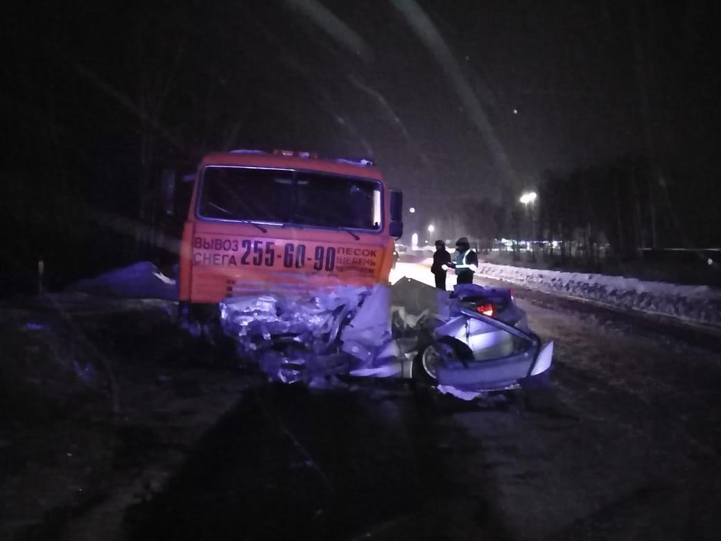 Смертельная авария произошла на Гусинобродском шоссе