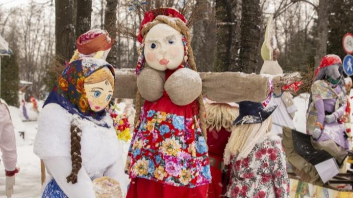 «Парень-масленица»: в Ярославле среди праздничных кукол оказался мужчина