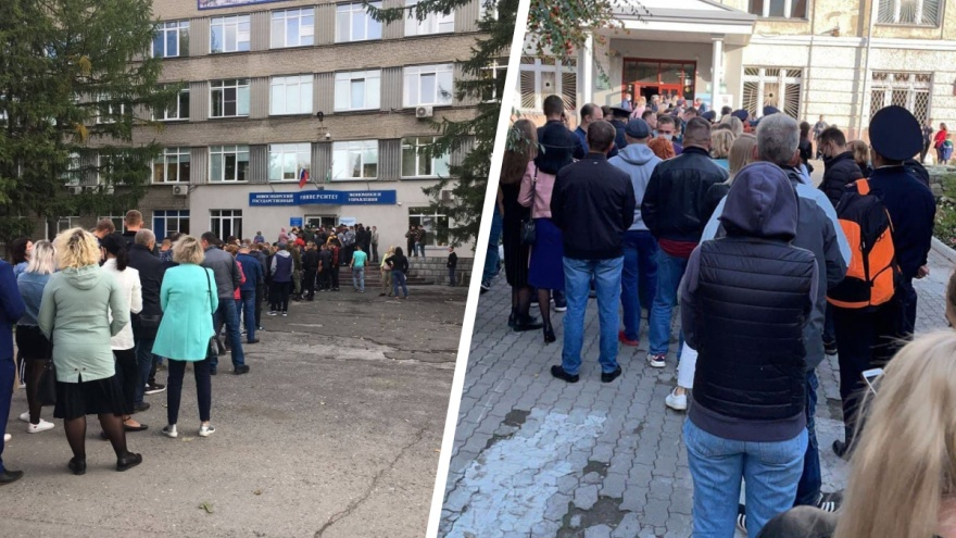 «Прикрепилось больше тысячи»: в Новосибирске в очереди за бюллетенями застряли полицейские, врачи и люди из колонии