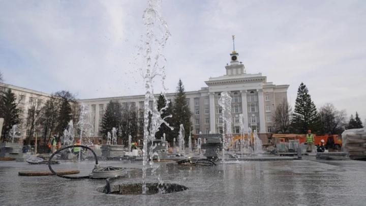 Стало известно, когда заработает фонтан на Советской площади в Уфе