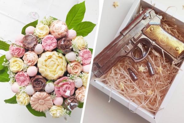 Шоколадные изделия архангелогородки не только вкусные, но и натуралистичные