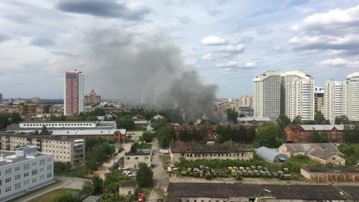 В Красных Казармах — очередной пожар. Уже пятый в этом году