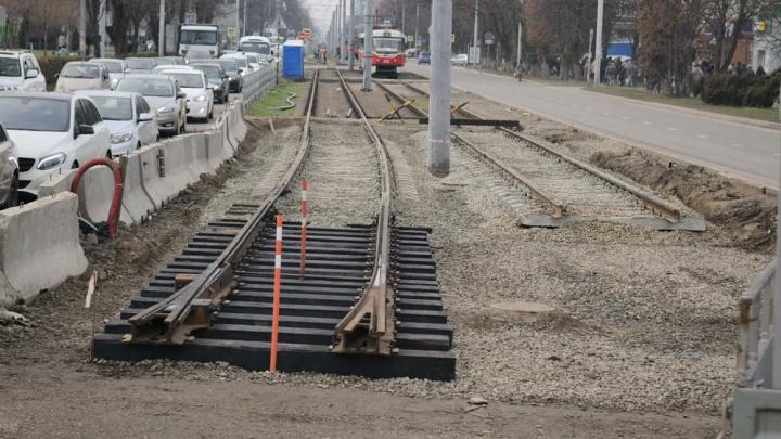 В Краснодаре на улице Московской приостановили строительство трамвайной линии. Что случилось?