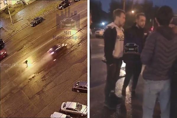 Очевидцы окружили парня, совершившего смертельный наезд
