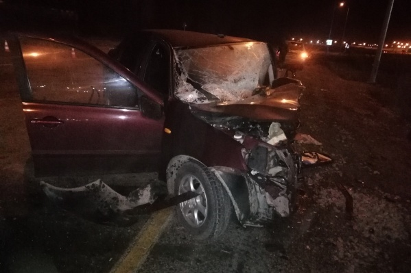 Водитель Lada погиб на месте