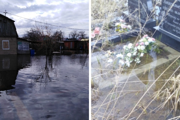 В Ярославской области затопило дачи и кладбища