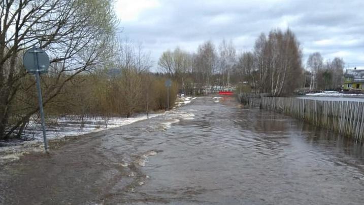 В Ярославской области река вышла из берегов и затопила дорогу: какие районы в опасности