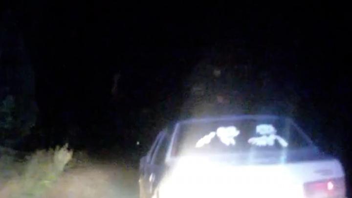 В Башкирии полицейские расстреляли машину лихача