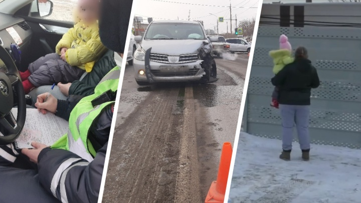 Пьяная мать с 3-летней дочкой в машине устроила ДТП, после чего пыталась сбежать: видео