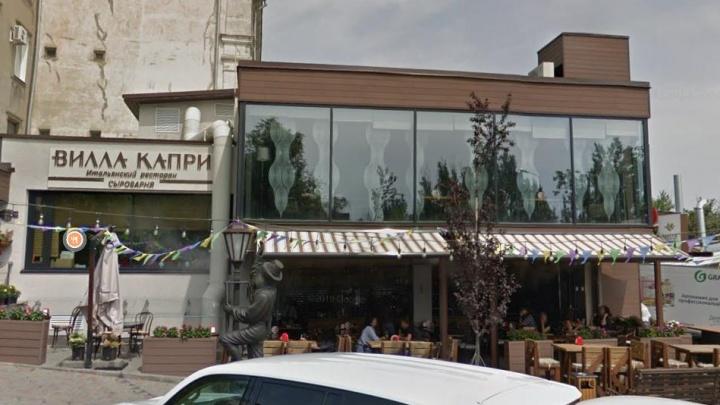 В центре Волгограда случайно подожгли террасу ресторана «Вилла Капри»